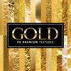 超リッチ!!様々な質感の金テクスチャ40枚を集めた「40 Premium GOLD Textures」!!
