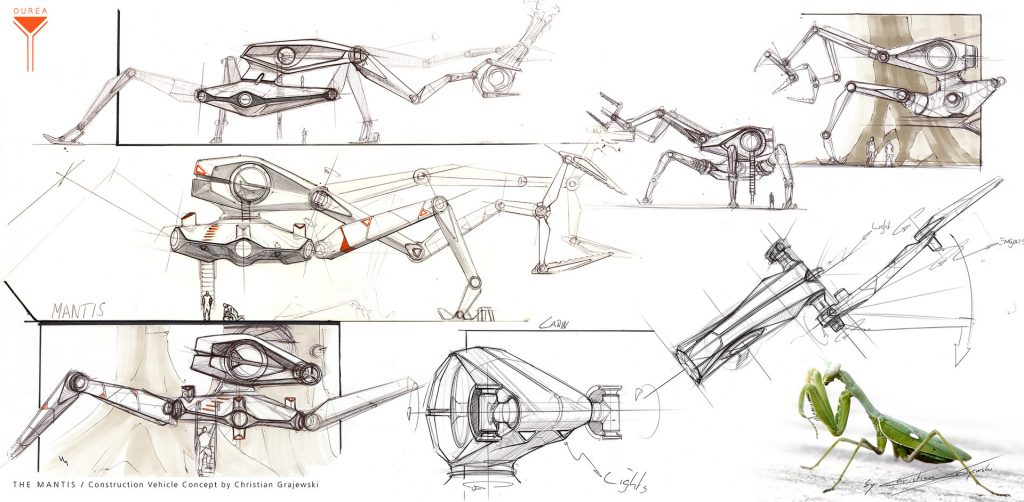 Project Ourea Sci-Fi Novel and Concept Art Book project; THE MANTIS