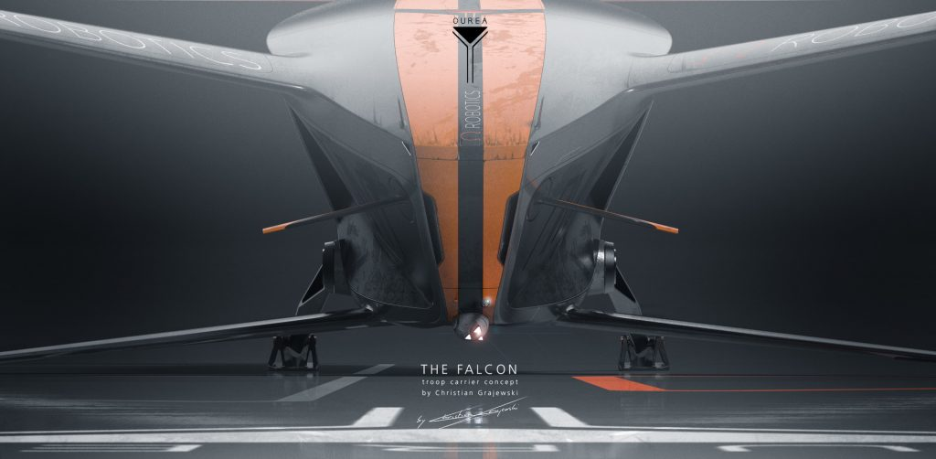 Project Ourea Sci-Fi Novel and Concept Art Book project; THE FALCON